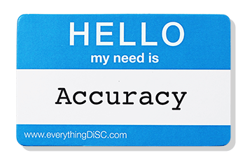 EverythingDiSC-ACCURACY Name Tag