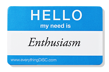 EverythingDiSC-ENTHUSIASM Name Tag
