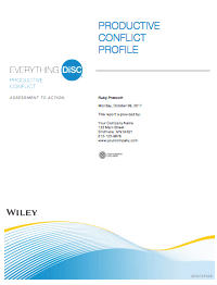 Everything DiSC® Productive Conflict Sample