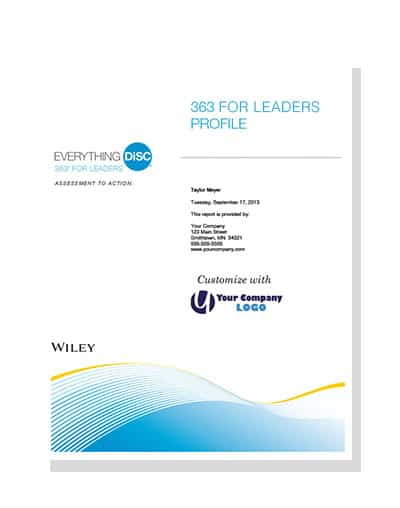See a sample of an Everything DiSC® 363©for Leaders Profile