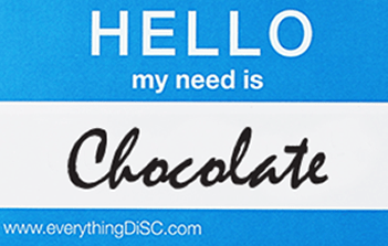 Hello My need is Chocolate name tag