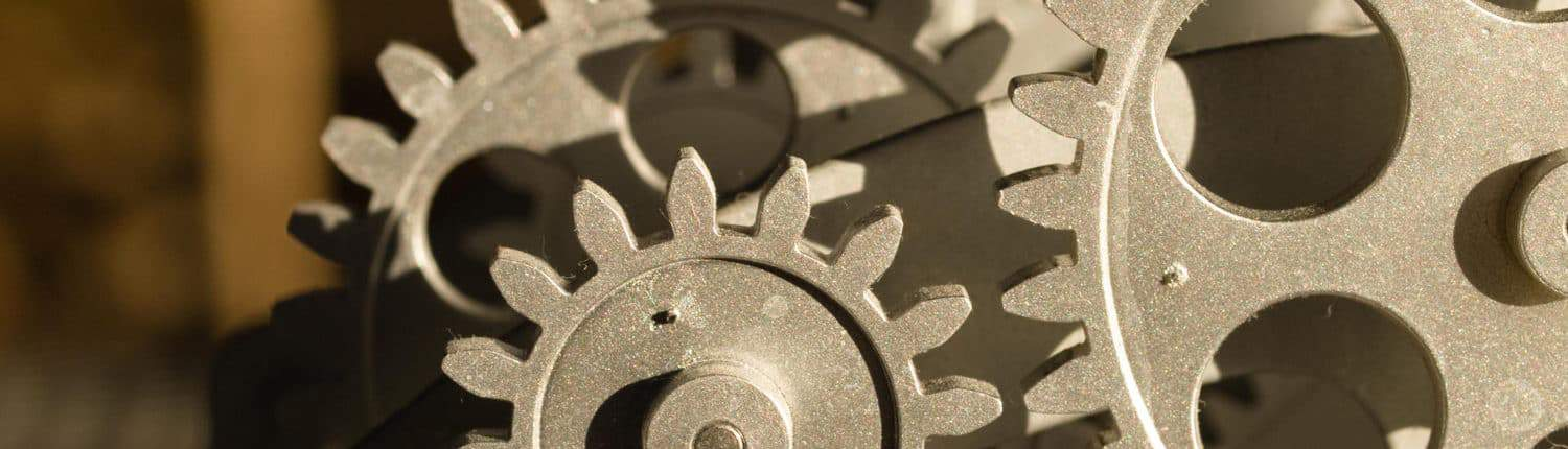 close up on gears