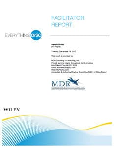 Everything DiSC® Facilitator Report Sample