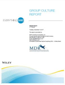 Everything DiSC® Group Culture Report Sample