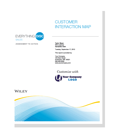 Everything DiSC Sales Customer Interaction Map