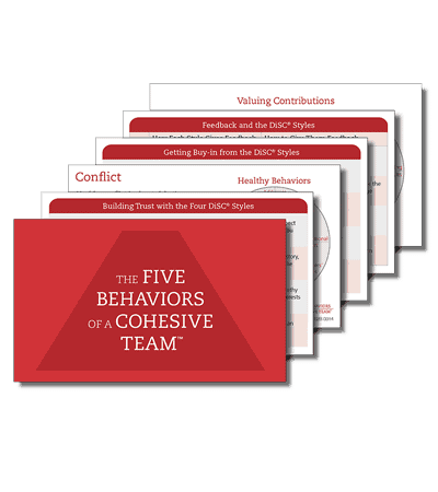 The Five Behaviors of a Cohesive Team - Take Away Cards