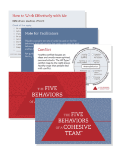 The Five Behaviors All Types Take Away Cards