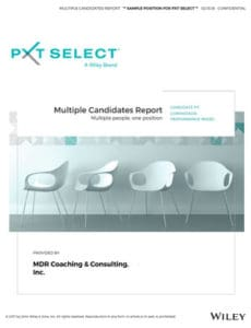 Multiple Candidates Report (Multiple people. One position.)
