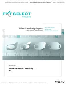Sales Coaching Report (One person. One position.)