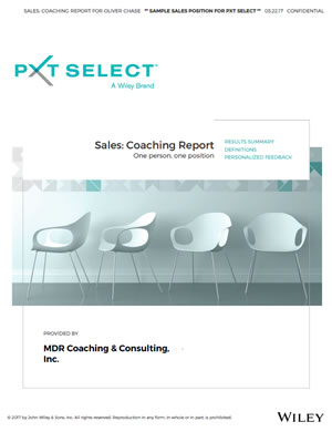 PXT Select Sales Coaching Report