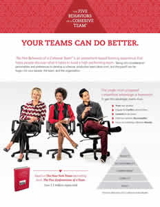 The Five Behaviors of a Cohesive Team - All Types Facilitator Brochure