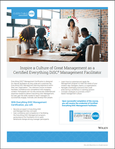 Everything DiSC Management Certification Brochure