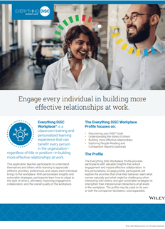 Everything DiSC Workplace Profile Brochure.