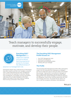 Everything DiSC® Management Profile Brochure